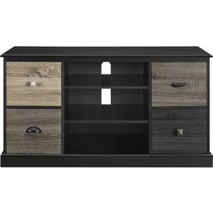 Dorel Home Mercer 1207 Mm Tv Stand - Black, Black 10215455, Black