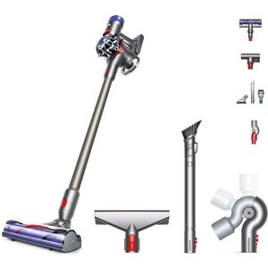 Dyson V8 Animal Cordless Vacuum Cleaner & Qr Complete Cleaning Kit Bundle - Nickel, Iron & Titanium, Titanium