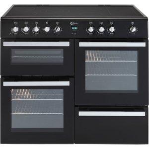 Flavel Milano 100 Mln10crk Electric Range Cooker - Black & Chrome, Black, Black