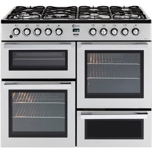 Flavel Mln10frs Dual Fuel Range Cooker - Silver & Chrome, Silver, Silver