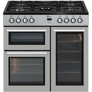 Flavel Mln9frs 90 Cm Gas Range Cooker - Silver & Black, Silver, Silver
