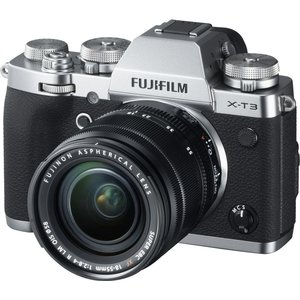 Fujifilm X-t3 Mirrorless Camera With Fujinon Xf 18-55 Mm F/2.8-4 R Lm Ois Lens - Silver, S Xt3, Silver