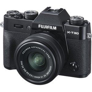 Fujifilm X-t30 Mirrorless Camera With Fujinon Xc 15-45 Mm F/3.5-5.6 Ois Pz Lens - Black, B Xt30, Black