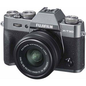 Fujifilm X-t30 Mirrorless Camera With Fujinon Xc 15-45 Mm F/3.5-5.6 Ois Pz Lens - Charcoal Xt30, Charcoal