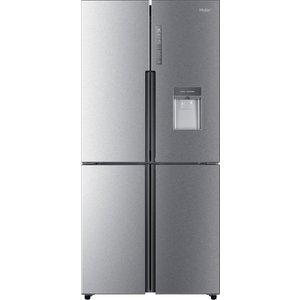 Haier Slim American Style Fridge Freezer Cube Htf-456wm6 - Silver, Silver HTF456WM6, Silver