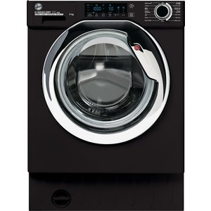 Hoover H-wash 300 Pro Hbwos 69tamcet Integrated Wifi-enabled 9 Kg 1600 Spin Washing Machin Black 69tamcbet, Black