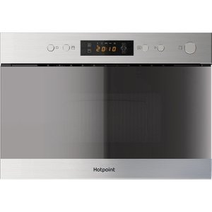 Hotpoint Mn 314 Ix H Built-in Microwave With Grill - Stainless Steel, Stainless Steel 10151127, Stainless Steel