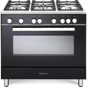 Kenwood Ck307g 90 Cm Gas Range Cooker - Black & Chrome, Black, Black