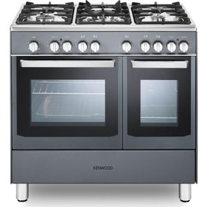 Kenwood Ck406sl 90 Cm Dual Fuel Range Cooker - Slate Grey & Chrome, Grey, Grey