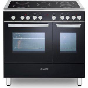 Kenwood Ck418 90 Cm Electric Ceramic Range Cooker - Black & Chrome, Black, Black