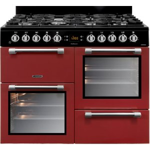 Leisure Cookmaster 100 Ck100f232r 100 Cm Dual Fuel Range Cooker - Red & Chrome, Red, Red
