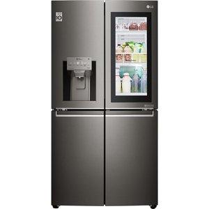 Lg American-style Smart Fridge Freezer Black Gmx936sbhv, Black, Black