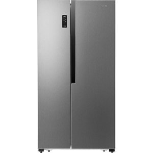 Logik American-style Fridge Freezer Silver Lsbsx18, Silver, Silver