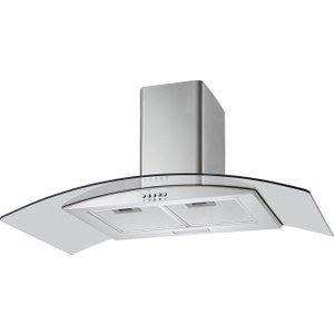 Logik L90chdg17 Chimney Cooker Hood - Stainless Steel & Glass, Stainless Steel, Stainless Steel