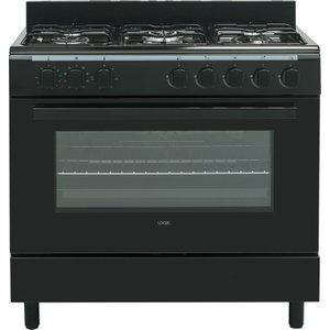 Logik Lftg90b18 90 Cm Duel Fuel Range Cooker – Black, Black, Black