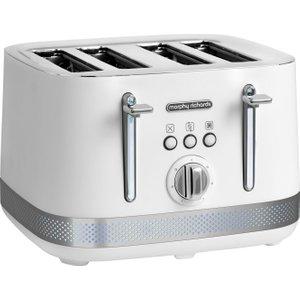 Morphy Richards Illumination 248021 4-slice Toaster – White, White 4slice, White