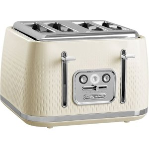 Morphy Richards Verve 243011 4-slice Toaster - Cream, Cream 4slice, Cream