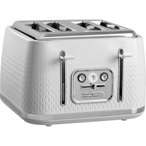 Morphy Richards Verve 243012 4-slice Toaster - White, White 4slice, White