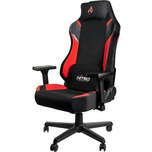 Nitro Concepts X1000 Gaming Chair - Black & Red, Black, Black