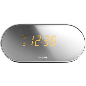 Philips Aj2000 Fm Clock Radio - Silver & White, Silver, Silver