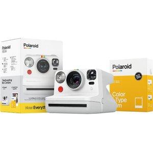Polaroid Now Instant Camera Everything Box With Color I-type Film - White, White 10214220, White