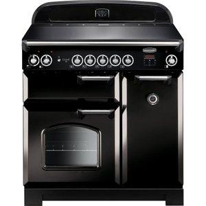 Rangemaster Classic 90 Cm Electric Induction Range Cooker - Black & Chrome, Black 10167545, Black