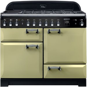 Rangemaster Elan Deluxe Ela110dffog 110 Cm Dual Fuel Range Cooker - Green & Chrome, Green, Green