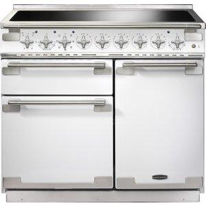 Rangemaster Elise 100 Induction Range Cooker - White & Chrome, White 21458748, White