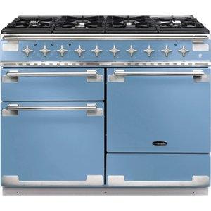 Rangemaster Elise 110 Dual Fuel Range Cooker - China Blue, Blue 10167366, Blue
