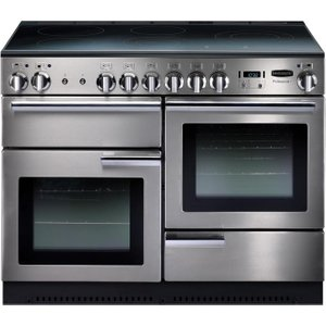 Rangemaster Professional 110 Electric Range Cooker - Stainless Steel & Chrome, Stainless S 10024804, Stainless Steel