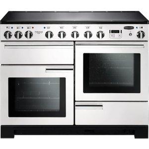Rangemaster Professional Deluxe 110 Induction Range Cooker - White & Chrome, White 21494976, White
