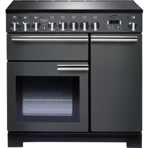 Rangemaster Professional Deluxe 90 Electric Induction Range Cooker - Slate & Chrome  10023650