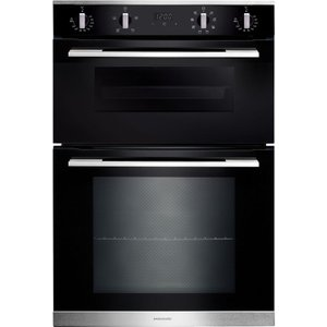 Rangemaster Rmb9048bl/ss Electric Double Oven - Black & Stainless Steel, Stainless Steel, Stainless Steel