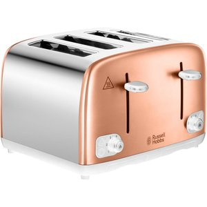Russell Hobbs 24095 4-slice Toaster - Copper & Silver, Silver 4slice, Silver