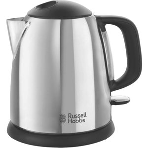 Russell Hobbs Classic 24990 Compact Jug Kettle - Black & Silver, Black 10202015, Black