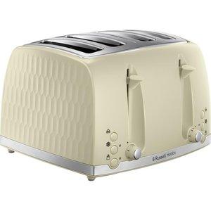 Russell Hobbs Honeycomb 26072 4-slice Toaster - Cream, Cream 4slice, Cream