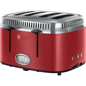 Russell Hobbs Retro Red 4sl 21690 4-slice Toaster - Red, Red, Red