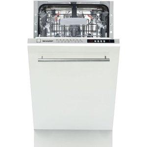 Sharp Qw-s32i472x Slimline Fully Integrated Dishwasher  QWS32I472X
