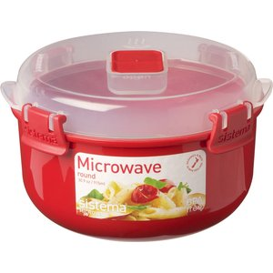 Sistema Round 915 Ml Microwave Box - Red, Red 21947144, Red
