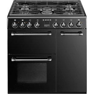 Smeg Bm93bl 90 Cm Dual Fuel Range Cooker - Black & Stainless Steel, Stainless Steel, Stainless Steel