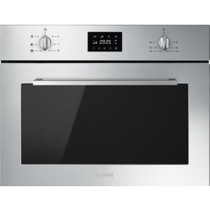 Smeg Cucina Sf4400mcx Built-in Compact Combination Microwave - Stainless Steel, Stainless , Stainless Steel