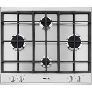 Smeg P260xgh Gas Hob - Stainless Steel, Stainless Steel, Stainless Steel