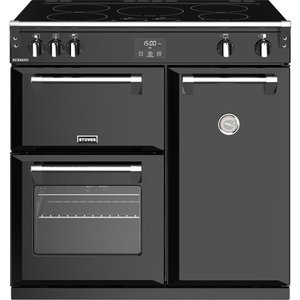 Stoves Richmond 900ei 90 Cm Electric Induction Range Cooker - Black, Black, Black