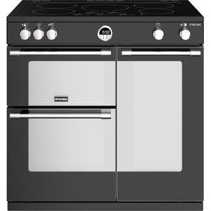 Stoves Sterling S900ei Bk 90 Cm Electric Induction Range Cooker - Black, Black, Black