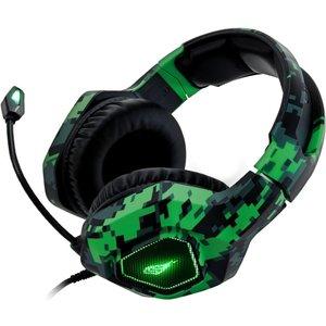 Surefire Skirmish Stereo Gaming Headset - Black & Green, Black 10224238, Black