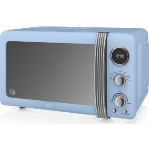 Swan Sm22030bln Solo Microwave - Blue, Blue, Blue