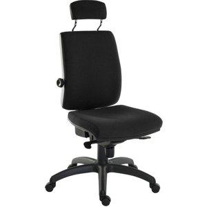 Teknik Ergo Plus Fabric Tilting Operator Chair - Black, Black 10179315, Black
