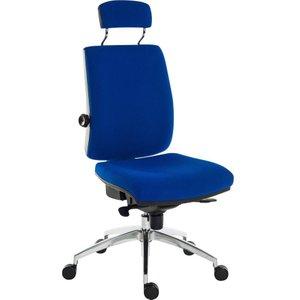 Teknik Ergo Plus Premier Hr Fabric Operator Chair - Blue, Blue 10203441, Blue