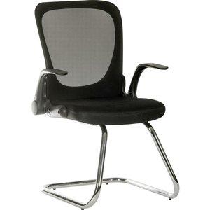 Teknik Flip Mesh Visitor Chair - Black, Black 10211177, Black