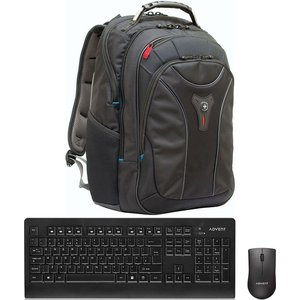 Wenger On The Go Essentials Bundle - Backpack & Wireless Keyboard & Mouse  10218175